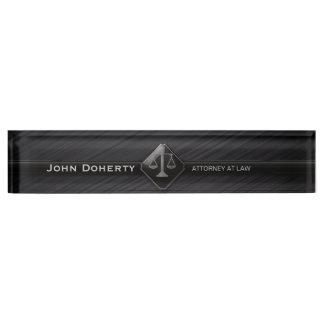 ATTORNEY AT LAW | Elegant Black Desk Name Plate