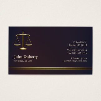 ATTORNEY AT LAW | Elegant Business Card
