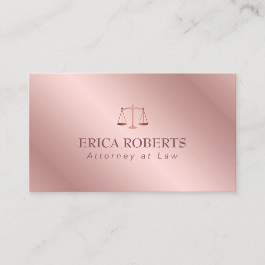 Attorney at law elegant foil rose gold lawyer business card zazzle attorney at law elegant foil rose gold lawyer business card reheart Images