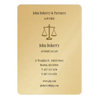 Attorney at Law - Elegant Gold Business Card