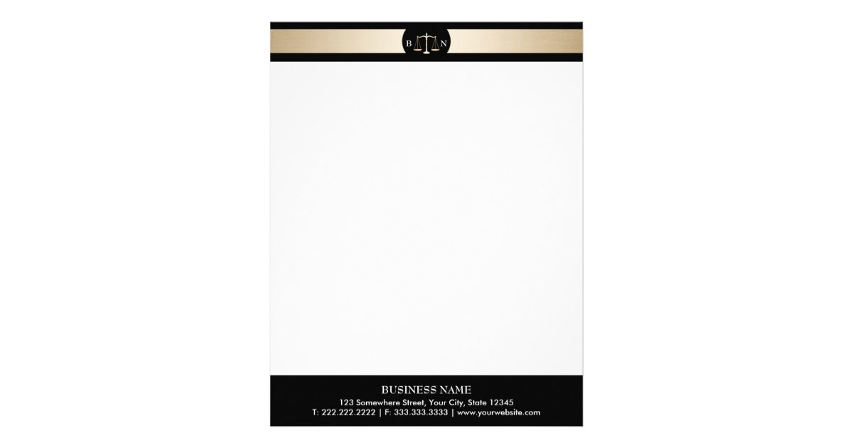 Attorney at law letterhead zazzle attorney at law gold border law scales lawyer letterhead spiritdancerdesigns Choice Image