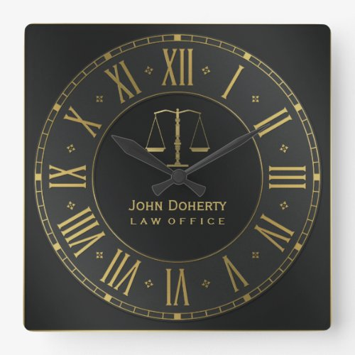 Law Firm Branded Wall Clock