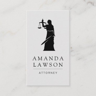 Attorney at Law Justice Scales Appointment Card