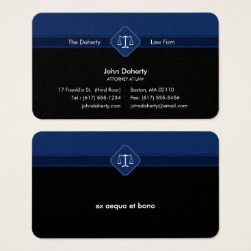 Lawyer Themed ATTORNEY AT LAW | Law Office Business Card