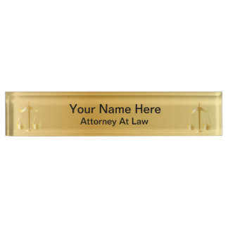 Attorney at Law | Lawyer Nameplate