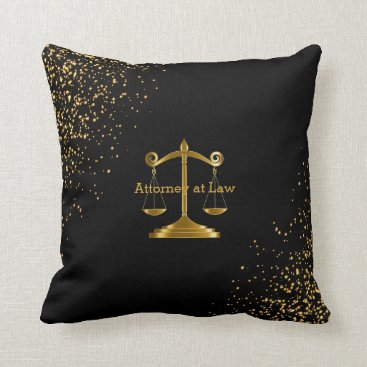 Lawyer Themed Attorney at Law - Lawyer Throw Pillow