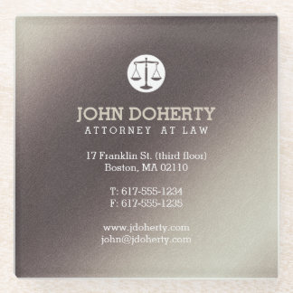 Attorney at Law | Lawyer's contact info Glass Coaster