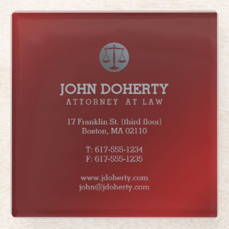 Attorney at Law | Lawyer's contact info Red Glass Coaster