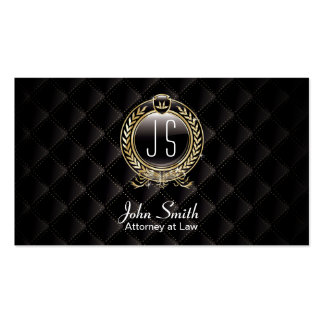 Attorney at Law Luxury Dark VIP Lawyer Double-Sided Standard Business Cards (Pack Of 100)