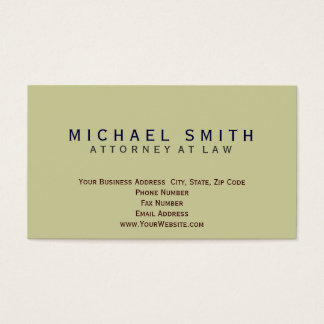 Attorney at Law Minimal Business Card