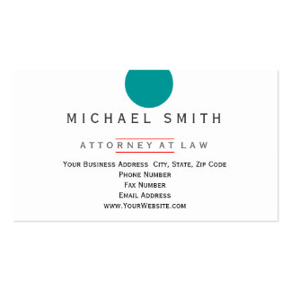 Attorney at Law Minimalist Business Card