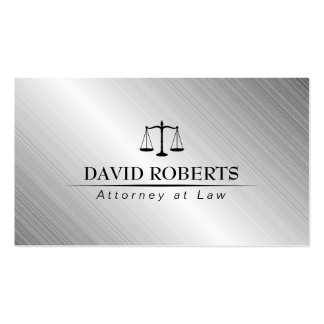 Attorney at Law Modern Metallic Lawyer Business Card