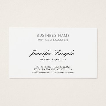 Lawyer Themed Attorney At Law Office Consultant Minimalist Plain Business Card