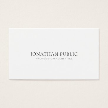 Lawyer Themed Attorney At Law Office Modern Stylish Simple Plain Business Card