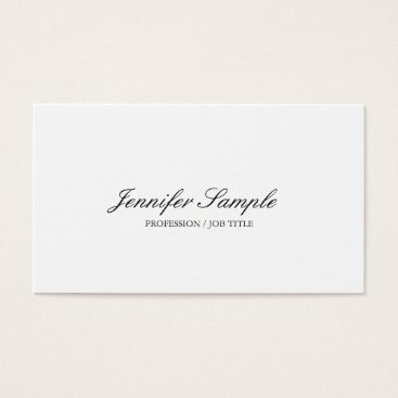 Lawyer Themed Attorney At Law Office Modern Stylish Sleek Plain Business Card