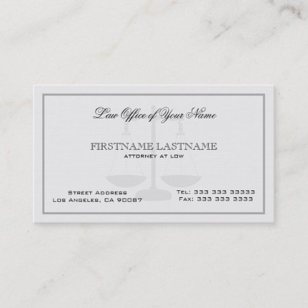 Attorney at law office simple linen texture business card 614164 attorney at law office simple linen texture business card reheart Image collections