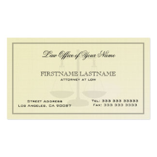 Attorney At Law Office Simple Linen  Texture Double-Sided Standard Business Cards (Pack Of 100)