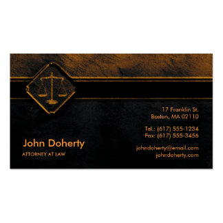 ATTORNEY AT LAW | Perfect Dark Business Card
