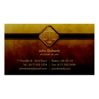 ATTORNEY AT LAW - Professional Business Card
