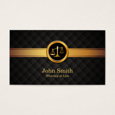 Attorney at Law Professional Gold Striped Lawyer Business Card at Zazzle