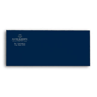 Attorney at Law Royal Blue Gold Scale Lawyer Envelope