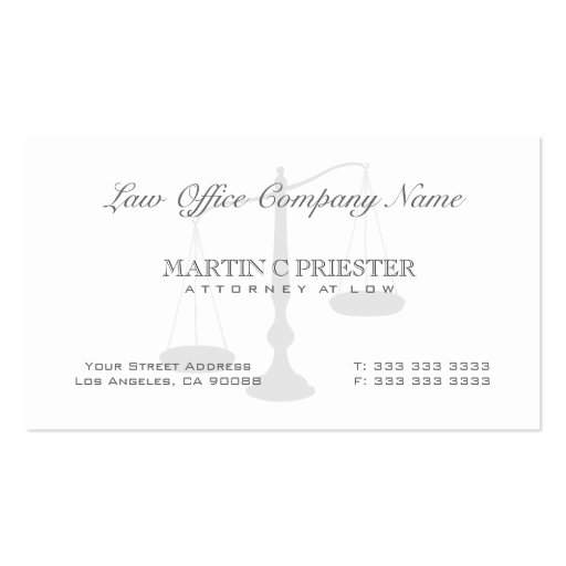 Attorney at law scale watermark business card zazzle for Watermark business cards