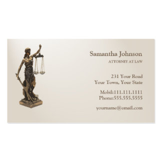 ATTORNEY AT LAW | Scales of Justice Double-Sided Standard Business Cards (Pack Of 100)