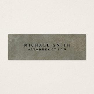Attorney at Law Stone Design Simple Minimalist Mini Business Card