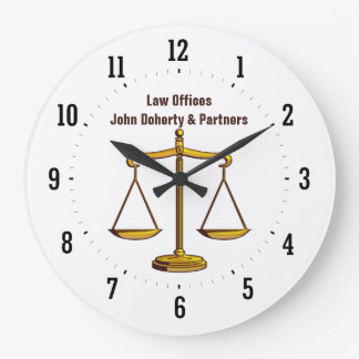 Attorney at Law | Time for Justice - Wall Clock