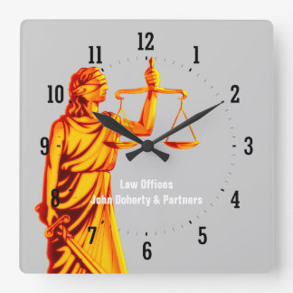 Attorney at Law - Time for Justice - Wall Clock