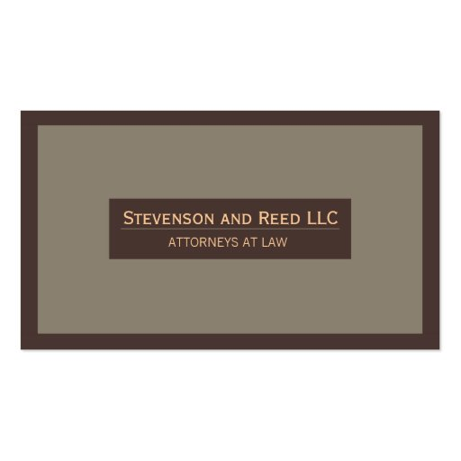 Attorney at Law Traditional Business Card