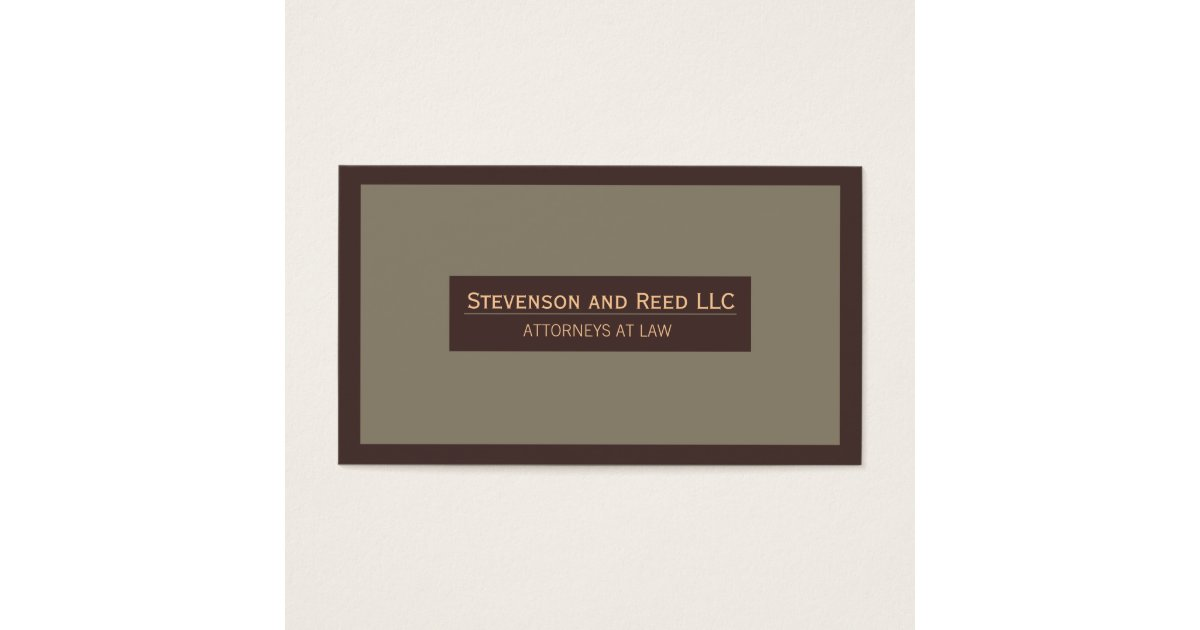 Attorney at Law Traditional Business Card   Zazzle.com