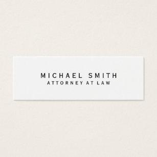 Law school graduate business cards templates zazzle attorney at law white simple minimalist mini business card colourmoves Choice Image