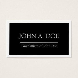 Attorney Black Banner - Available Letterhead - Business Card