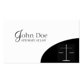 Attorney Black/LtGrey Corner Double-Sided Standard Business Cards (Pack Of 100)