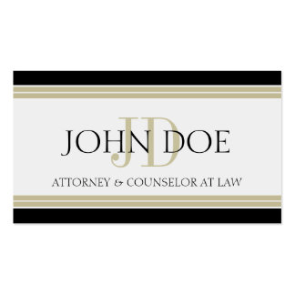 Attorney Black Tan Stripes Double-Sided Standard Business Cards (Pack Of 100)