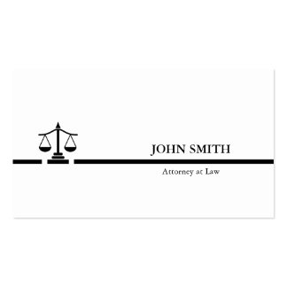 Attorney Black white Professional minimalist Business Card