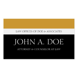 Attorney Black/Yellow Gold Touch Business Card