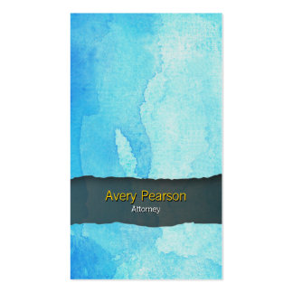 Attorney Blue Watercolor Wash Business Card