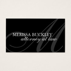 Attorney  Business Card at Zazzle