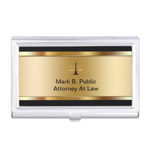 Attorney Business Card Holder