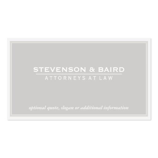 Attorney Business Card in Pale Gray