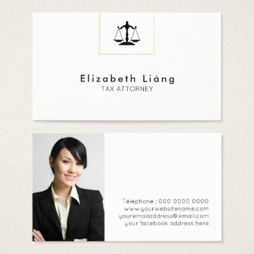 Professional Business Attorney Business Card Template