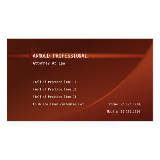 Attorney Business Card terracotta Lawyer Justice