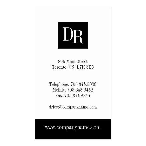 Attorney Business Cards (back side)