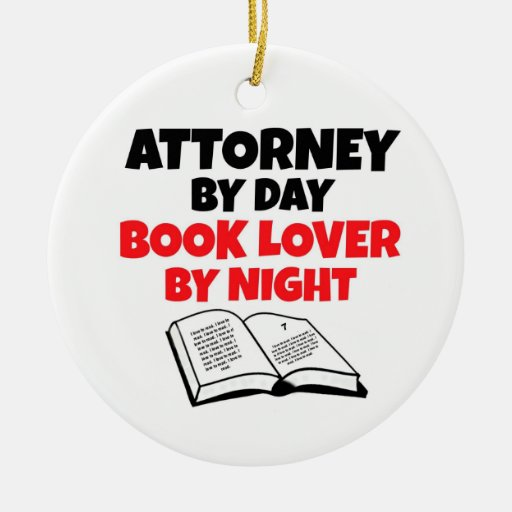 Attorney by Day Book Lover by Night Christmas Tree Ornament