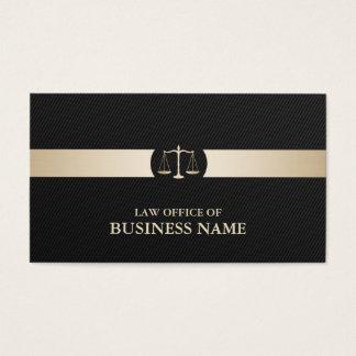 Attorney Carbon Fiber Gold Stripe Modern Business Card