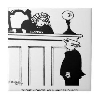 Attorney Cartoon 5496 Tile