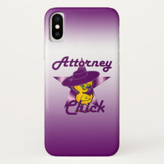 Attorney Chick #9 iPhone X Case
