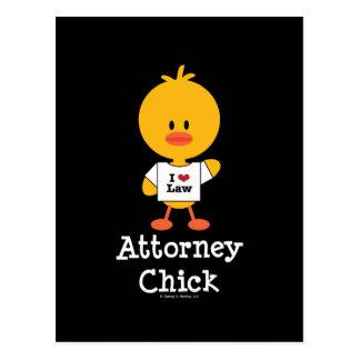 Attorney Chick Postcard